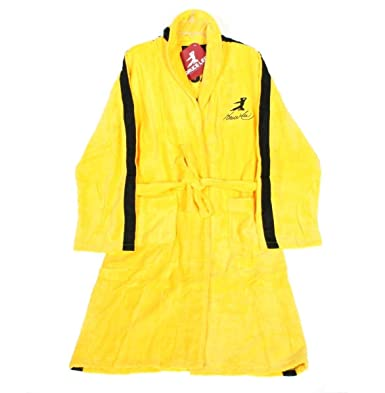 Image Unavailable. Image not available for. Color  Bruce Lee Jeet Kune Do  Yellow Cotton Bathrobe 845dcb222