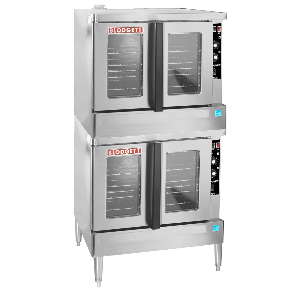 Blodgett CTB Premium Series Double Deck Half Size Electric Convection Oven with Left-Hinged Door - 220-240V, 1 Phase, 11.2 kW