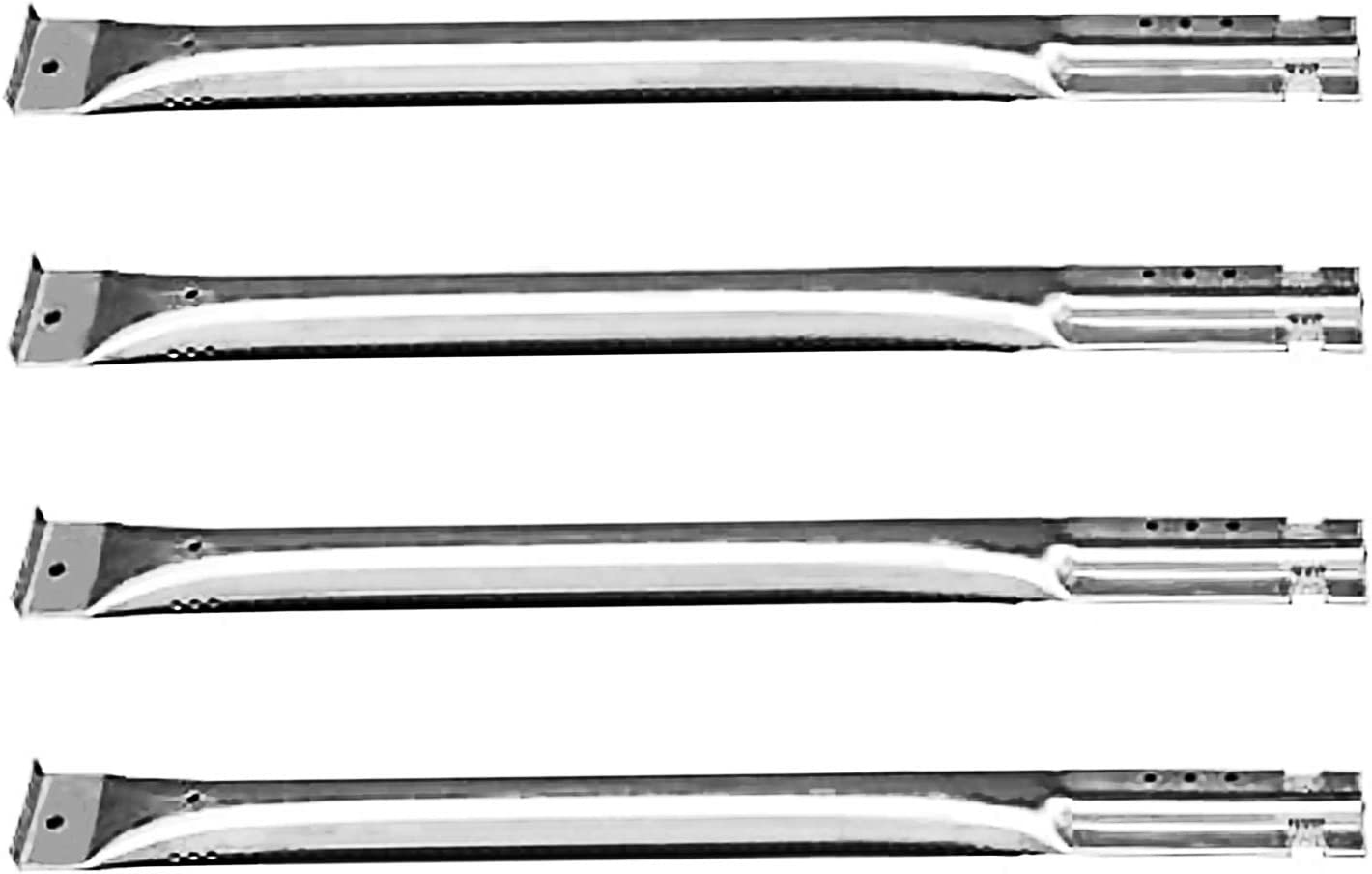BBQ FUNLAND SB5591(4 팩)CHARBROIL FRONT AVENUE CHARMGLOW SEARS KENMORE CENTRO 및 기타 그릴 용 스트레이트 스테인레스 스틸 파이프 버너 교체