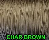 10 YARDS: CHAR BROWN 1.6 MM Professional Grade Braided Nylon Lift Cord For Blinds and Shades