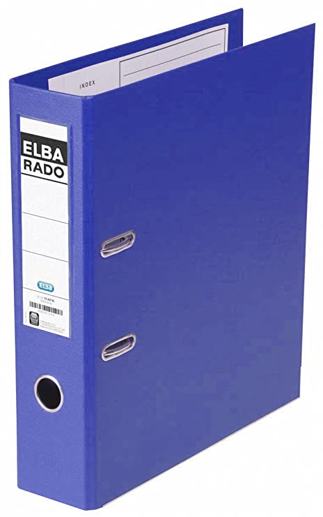 Elba Rado Plast - Archivador palanca en PVC, A4, color azul oscuro
