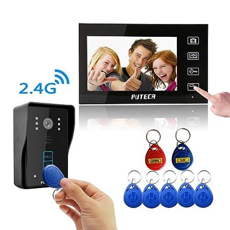 Puteca 24g 7 Tft Wireless Video Door Phone Intercom Video Doorbell