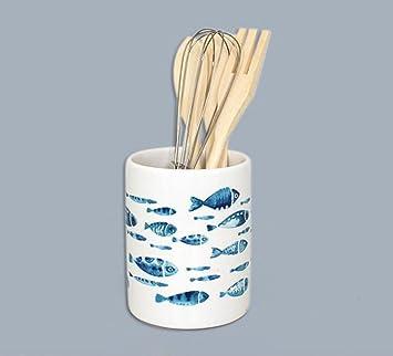 005170 - Soporte para utensilios de cocina (cerámica, 4 utensilios ...