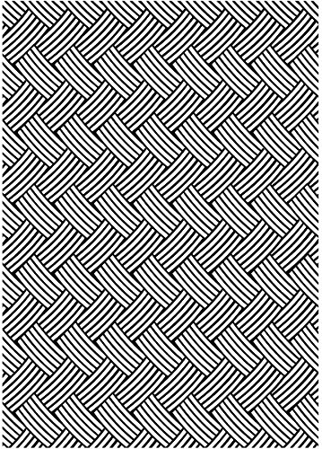 Basketweave Embossing Folder Background - 5'' x 7'' 1 pcs sku# 1856535MA