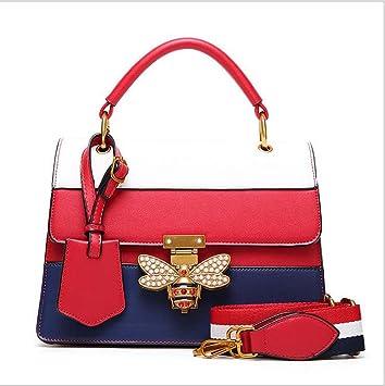1493f819ac50e Mittlere quadratische rote schwarze und weiße Umhängetasche der Frauen  Handtaschen-Schulter-Bienen-Tasche