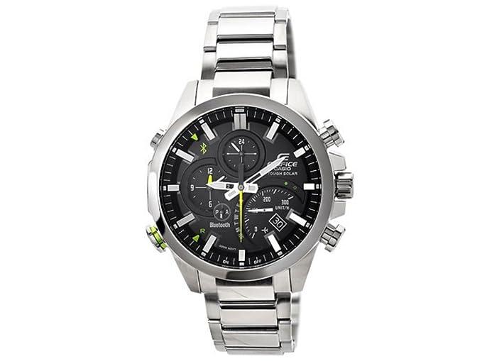 59d4d285ce31 Casio Reloj Cronógrafo para Hombre de Cuarzo con Correa en Acero Inoxidable  EQB-500D-1AER  Amazon.es  Relojes