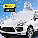 HEHUI Car Windshield Snow Cover,Car Windshield Snow Ice Cover with 4