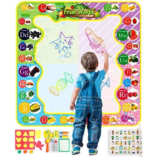 화가 화가 시트 물로 그림 그리기 교육 완구 색칠 장난감 어린이 선물 다채로운 시트 물 펜 4 개 포함 스탬프 7pcs있는 수납 가방 포함