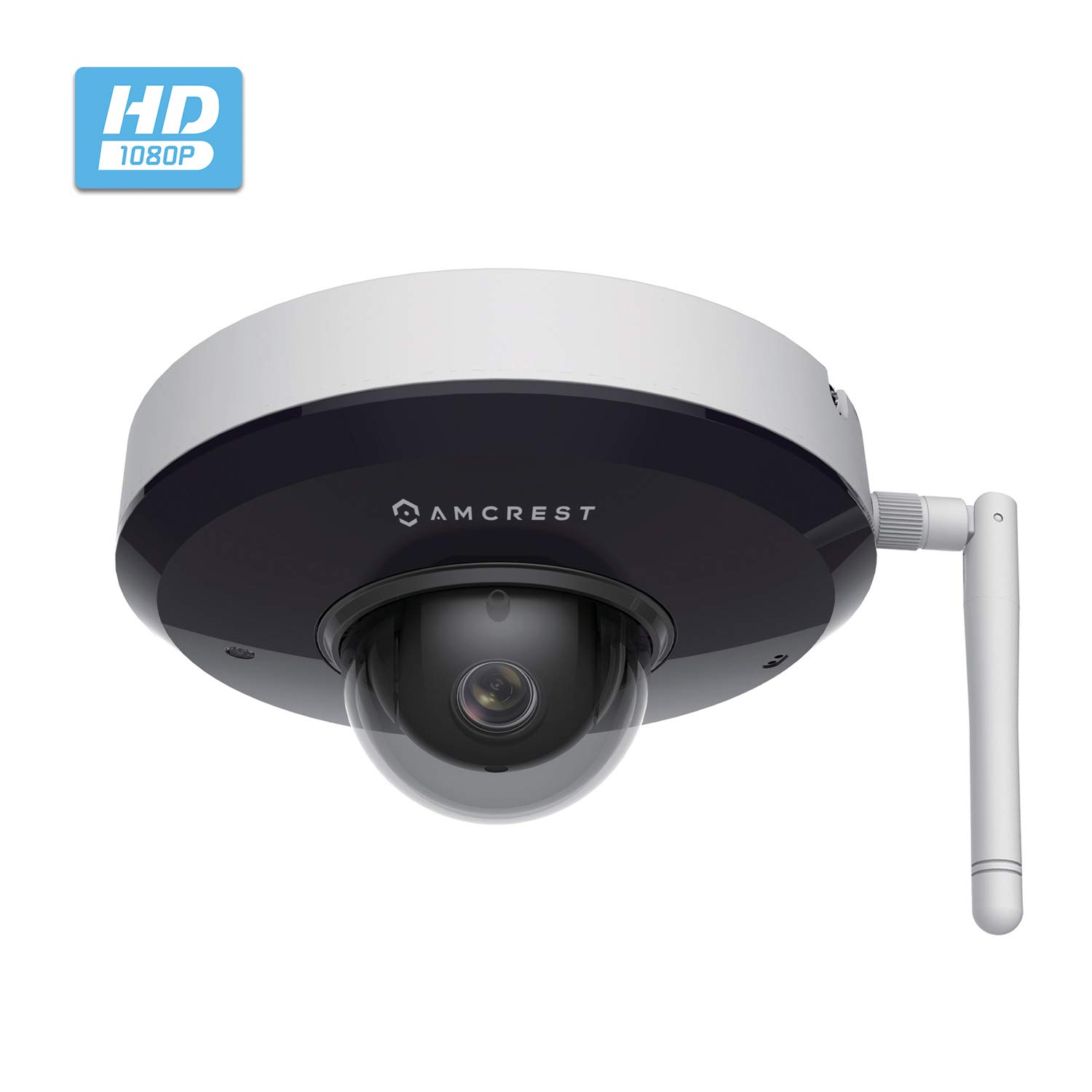 Amcrest ProHD 1080P PTZ WiFi Camera, 2MP Outdoor Vandal Dome IP Camera (3X Optical Zoom) IK08 Vandal-Proof, IP66 Weatherproof, Dual Band 5ghz/2.4ghz, 2019 Updated Firmware, Pan/Tilt IP2M-866W (White)