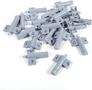 Gray caj/ón Cierre silencioso suave Tope de puerta Reduzca el ruido para armarios//cajones y puertas puerta 20pcs Amortiguadores para armario muebles