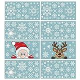 300 PCS 8 Sheet Christmas Snowflake Window Cling