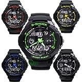 Fashion Sport Watch Multifunction Dual Time Led Analog Digital Waterproof Alarm S-Shock Wristwatch 0931