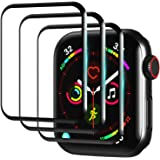 3 Pack Smart Watch Screen Protector for Apple Watch Series 6/5/4/SE 40mm,3D Full Coverage Bubble Free Anti-Scratch Shatterpro