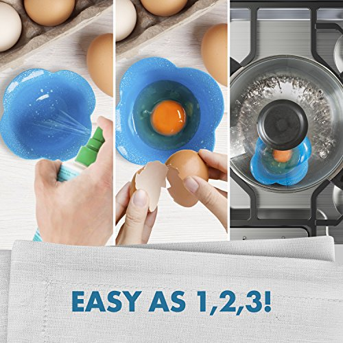 Silicone Egg - Poaches Eggs Perfection or Mess for Cleaning Microwave, Dishwasher Safe