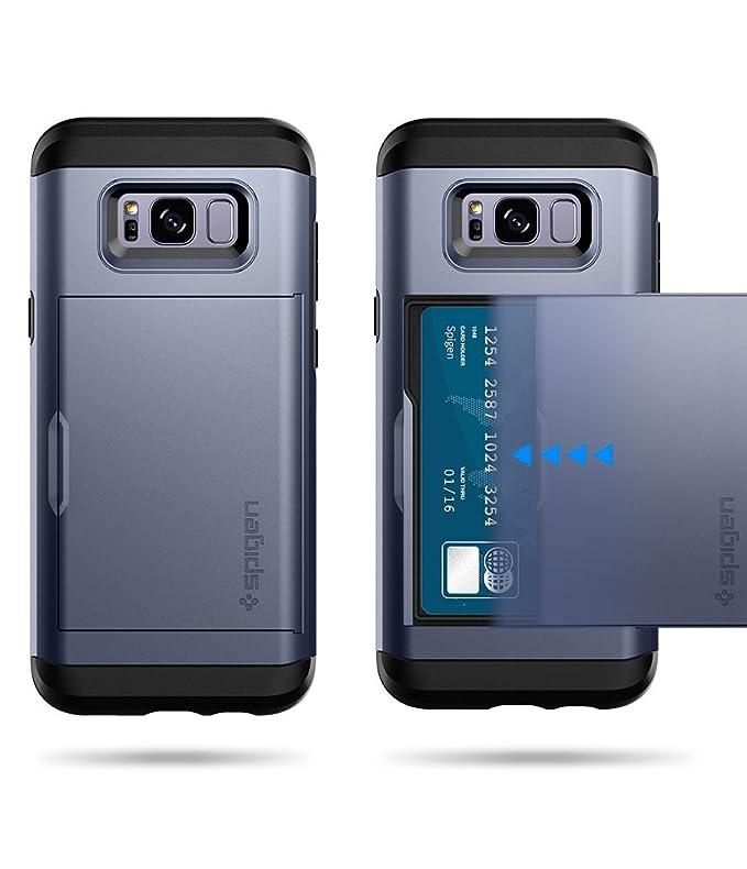 spigen Funda Galaxy S8, [Slim Armor CS] Delgado de Doble Capa de diseño de la Cartera y Titular de la Ranura para Tarjeta de Galaxy S8 (2017): Amazon.es: ...