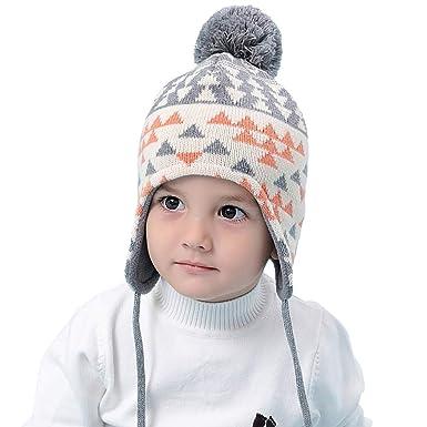 9896b58a8af7 Bonnet bébé chapeau chaud bébé en bas âge Bonnet bébé avec oreillettes pour  l hiver