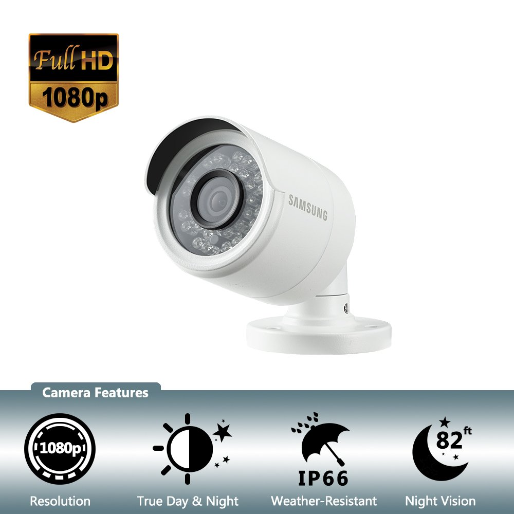 Samsung Wisenet SDC-9443BC 1080p HD Weatherproof Bullet Camera (Compatible with SDH-B74041 & SDH-B74081) by Samsung