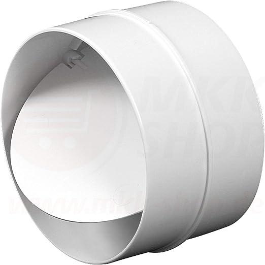 Rohrverbinder für Lüftungsrohr mit Rückschlagklappe Abluftrohr Abluftkanal