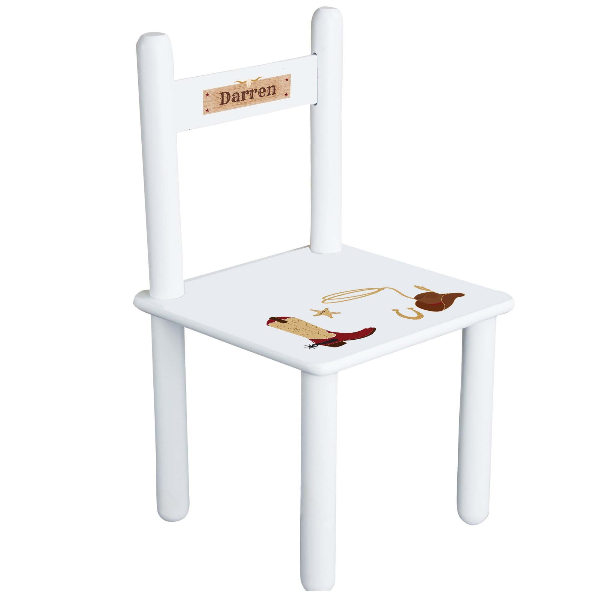 MyBambino Personalized Wild West theme Childrens Chair