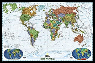 National Geographic: World Decorator Wall Map - Laminated (46 x 30.5 inches) (National Geographic Reference Map) (0792283090) | Amazon Products