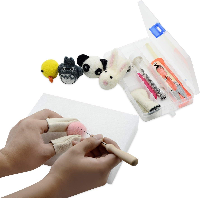 Needle Felting Needle YXQSED Needle Felting Craft Kit Set Wool Felt Tools Felting Foam Starter Kit Mat Awl Needles