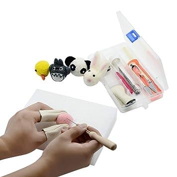 YXQSED Lana de Fieltro felting kit B/ásico de Fieltro de Lana Para Hilar a Mano Proyectos de arte de bricolaje Ciervo sika