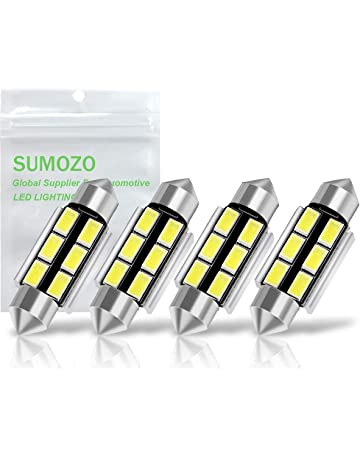 36mm Festoon LED Car Bulb Xinfok 4x 1.5 LED White 6411 6418 LED White Car Interior Dome Light Bulbs Vanity Mirror Cargo Light 6 SMD 5730 Replace Bulbs LED License Plate Map Lights No Polarity