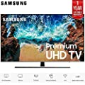 "Samsung UN65NU8000 65"" Class NU8000 Premium Smart 4K Ultra HD TV (2018) (UN65NU8000FXZA) with 1 Year Extended Warranty UN65NU8000 65NU8000"
