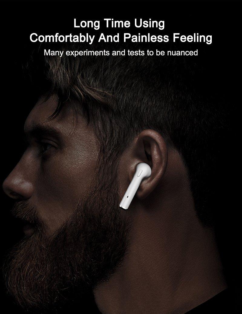 HD Bluetooth Headset - Wireless Headphones Women's Wireless Headphones Men - Sports in-Ear Headphones Wireless Headphones Stereo Headphones Sports Headphones with Microphone Mini in-Ear Headphones by jieanruituo (Image #8)