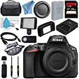 Nikon D5600 DSLR Camera (Body Only) (Black) 1575 + 256GB SDXC Card + Professional 160 LED Video Light Studio Series + Mini HDMI Cable + Wireless Universal Shutter Release Remote Bundle