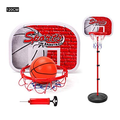 Toddler Basketball Hoop Stand Adjustable Height, Mini Indoor Outdoor Basketball Goal Toy with Ball Pump, for Baby Kids Boys Girls Play Sport: Arts, Crafts & Sewing