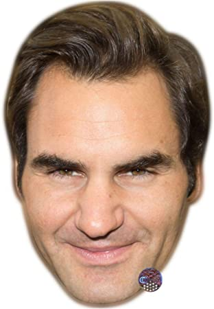 Roger Federer Big Head Smile Larger than life mask.