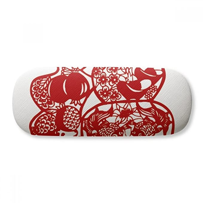 ad60f79554a2f Blessing Paper Cut Flower Bird Fish Glasses Case Eyeglasses Clam ...