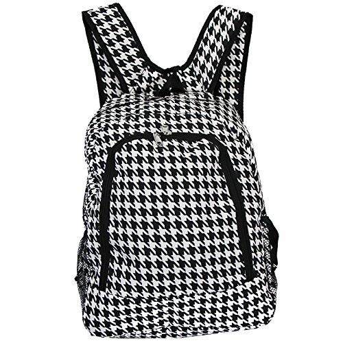 World Traveler Multipurpose Backpack 16-Inch, Black Trim Houndstooth, One Size