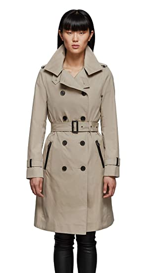 cd1d221c3a Amazon.com: MACKAGE Women's FELICIA Straight-fit Classic Trench Coat ...