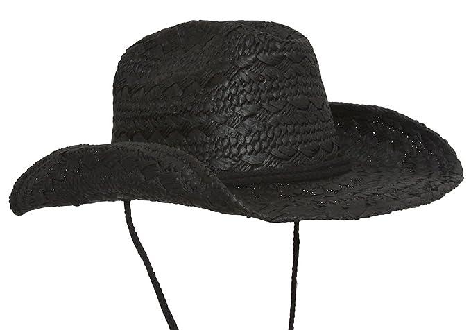 TOP HEADWEAR Ladies Toyo Western Cowboy Hat w Strap - Black at ... cd2a1ccdde6