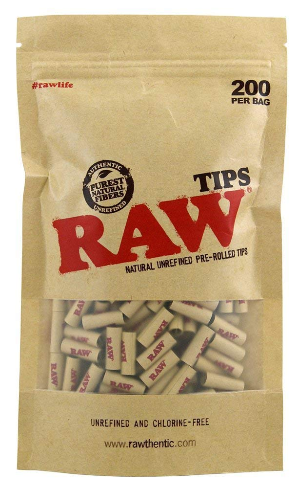 3 X Natural UNREFINED PRE-Rolled Tips - Bag of 200