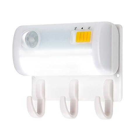leehur Sensor de movimiento luz nocturna a LED con gancho para linterna eléctrica magnético a batería