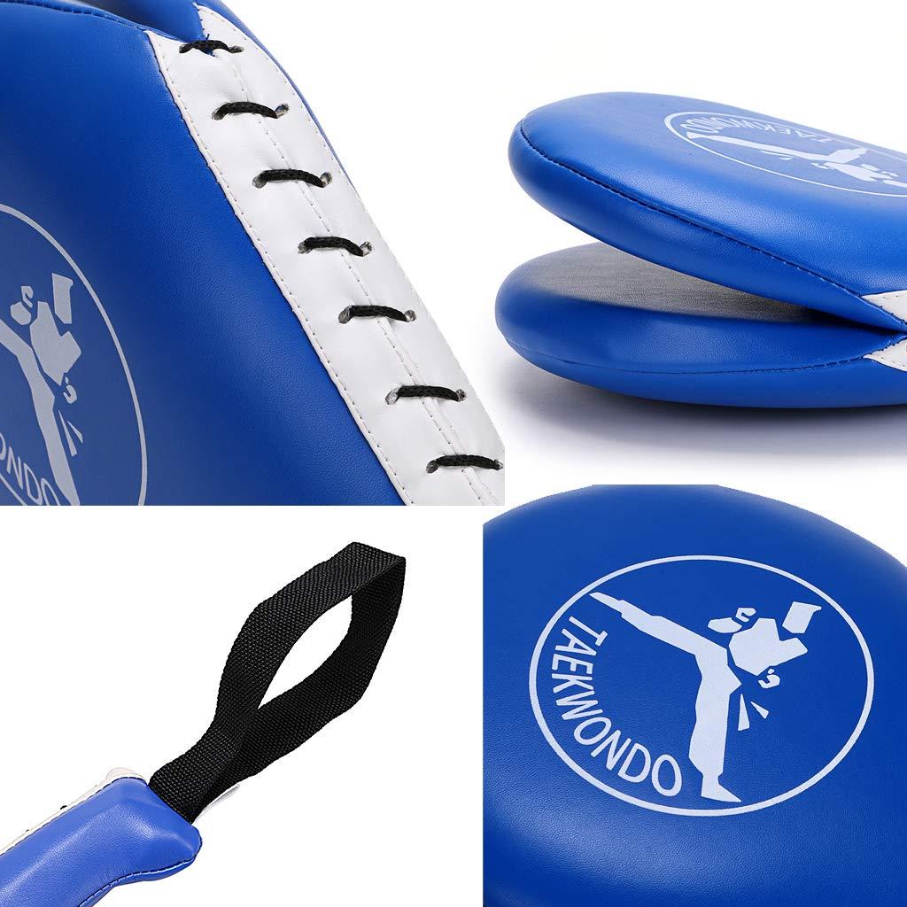 IGNPION k/árate 1/par de almohadillas kickboxing de entrenamiento de patadas en taekwondo mit MMA; pr/áctica de doble patada; equipamiento para artes marciales; palas acolchadas.