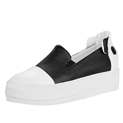 Latasa Women's Cute Platform Slip on Loafers