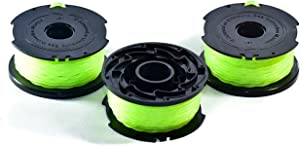 LBK Black+Decker SF-080 Compatible Replacement Trimmer Spool (3-Pack), Made in USA, fit Model GH3000