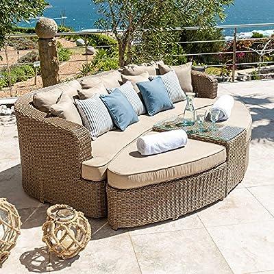 Nova Mueble de jardín de ratán para exteriores de Heritage Tamara – sauce: Amazon.es: Hogar