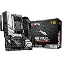 MSI MAG B550M Mortar WiFi Motherboard mATX, AM4, DDR4, Dual M.2, LAN, 802.11ax WiFi 6 + Bluetooth 5.1, USB 3.2 Gen2…