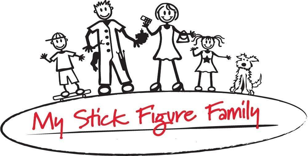 My Stick Figure Family Familie Autoaufkleber Aufkleber Sticker Decal Mutter Lauftraining F2 Auto