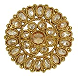 MUCHMORE Indian Amazing Gold Tone Crystal Stone Fashion Rings Partywear Traditional Jewelry