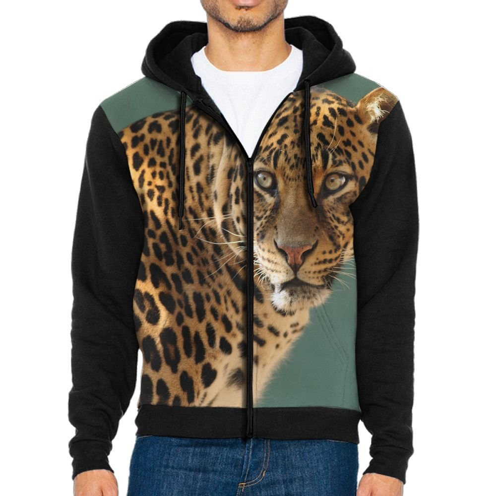 Leopard Cool Mens Black Hoodie Sweatshirt Sportswear Jackets With Hoodies
