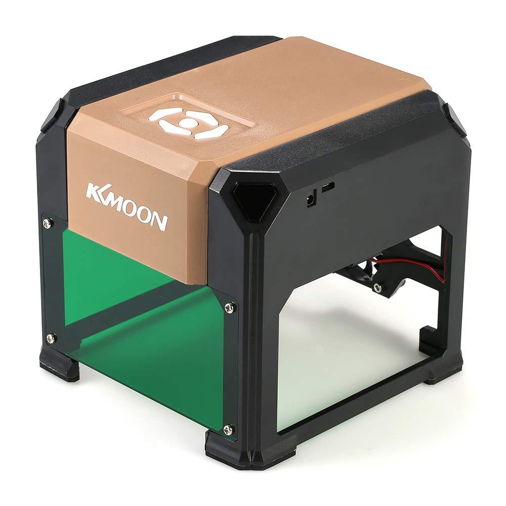 KKmoon Tipo K4 autom/ático Nuevo Marca 3000mW M/áquina,grabado l/áser de alta velocidad USB DIY Talla Grabador Artesan/ía Herramientas,para WIN XP 7//8//10 Mac 10.10 y superior