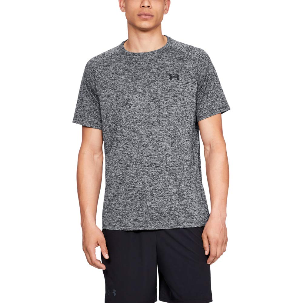 Under Armour mens Tech 2.0 Short Sleeve T-Shirt, 5X-Large, Grey/Black by Under Armour