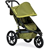 BOB Gear Alterrain Pro Jogging Stroller | One-Hand Quick Fold - Smoothshox + Airfilled Tires, Olive