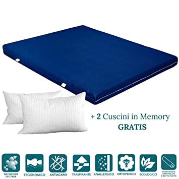 EvergreenWeb - Colchón de Waterfoam Alto 15 cm + Cojines de Memory Foam Gratis, Revestimiento de Air Space Tela Transpirable,: Amazon.es: Hogar